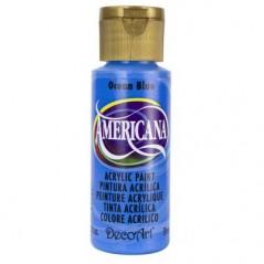 Decoart Americana Acrylic Paint -  Ocean Blue 2oz Decoart Americana Acrylic Paints