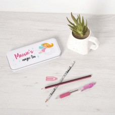Personalised Printed White Pencil Tin - Fairy Personalised and Bespoke