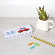 Personalised Printed White Pencil Tin - Car Personalised and Bespoke