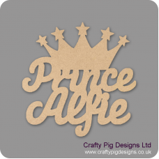 3mm MDF Personalised Prince with crown sign Room & Door Plaques