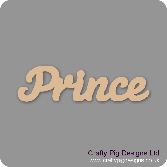 3mm MDF Prince Word Joined in Susa Font Joined Words