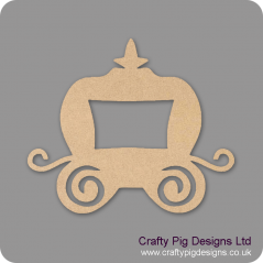 3mm MDF Cute Princess Carriage with one window (by height) Christmas Shapes