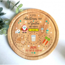 Printed Round Treat Board - Distance Board Printed Christmas Eve Treat Boards