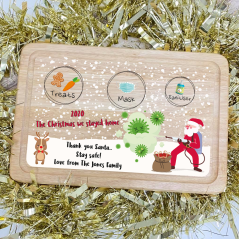 Printed Christmas Eve Treat Board - christmas 2020 COVID Design Christmas Shapes