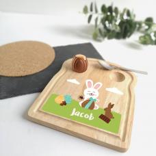 Printed Breakfast Board -  Boys or Girls Chocolate Egg Design Personalised and Bespoke