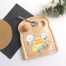 Printed Breakfast Board - Easter Chick and Bunny Personalised and Bespoke