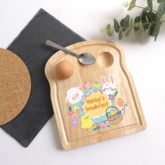 Printed Breakfast Board - Easter Chick and Bunny