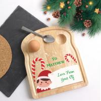 Printed Christmas Elf Egg Breakfast Board