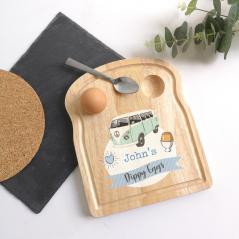 Printed Breakfast Board -  Blue Camper Van