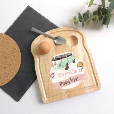 Printed Breakfast Board -  Pink Camper Van Personalised and Bespoke