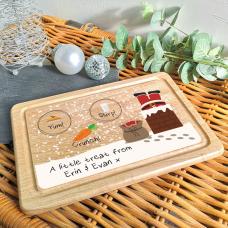Printed Christmas Eve Treat Board - Chimney Design Christmas Shapes