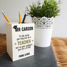 Colour Printed Wooden Pot - To The World Teachers