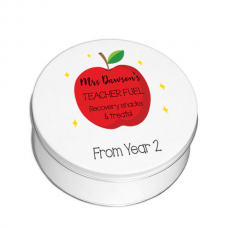 Personalised Printed White Tin - Red Apple Personalised and Bespoke