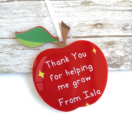 Thank You For Helping Me Grow Printed Apple Teachers