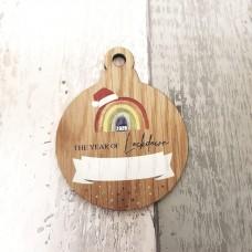 4mm oak veneer printed Lockdown 2020 Bauble Christmas Baubles