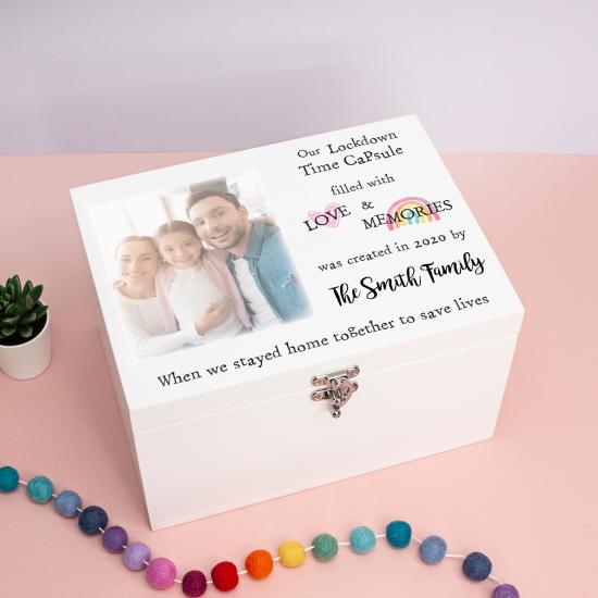 White Deluxe Printed Photo Box - Style 1 Boxes