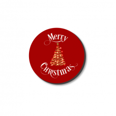 3mm Printed Token - Merry Christmas on Red Christmas Craft Shapes