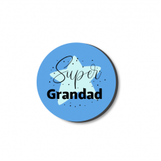 3mm Printed Token - Super Grandad - Blue Fathers Day