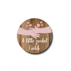 3mm Printed Pocket Hug - Cwtch Printed Buttons