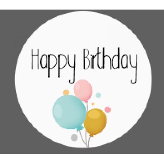 3mm Printed Token - Happy Birthday Birthdays
