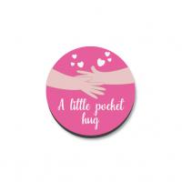 3mm Printed Pocket Hug - Pink