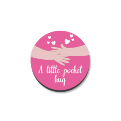 3mm Printed Pocket Hug - Pink Printed Buttons