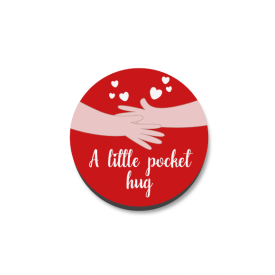 3mm Printed Pocket Hug - Wood Effect Printed Buttons