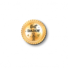 3mm Printed Token - Best Daddy Medal Fathers Day