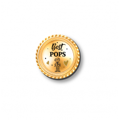 3mm Printed Token - Best Pops Fathers Day