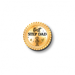 3mm Printed Token - Best Step Dad Medal Fathers Day