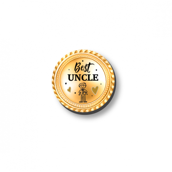 3mm Printed Token - Best Uncle Fathers Day