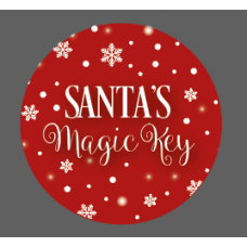 3mm Printed Token - Santa's Magic Key - Red Birthdays