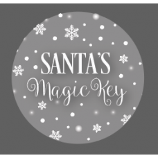 3mm Printed Token - Santa's Magic Key - Silver Birthdays