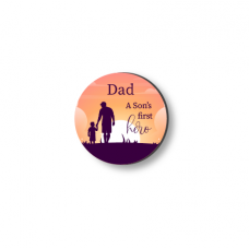 3mm Printed Token - Dad - A Son's First Hero Fathers Day