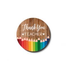 3mm Printed Pocket Hug - Thank you Teacher Printed Buttons