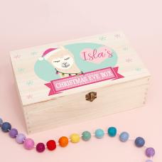 Personalised Rectangular Printed Box - Llama Girl Personalised and Bespoke