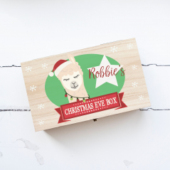 Personalised Rectangular Printed Box - Llama Boy Personalised and Bespoke