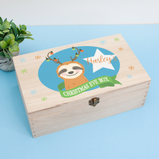 Personalised Rectangular Printed Box - Sloth Personalised and Bespoke