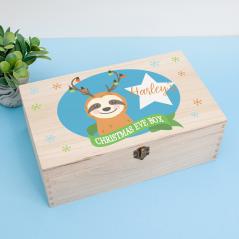 Personalised Rectangular Printed Box - Sloth Personalised and Bespoke