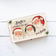 Personalised Rectangular Printed Box - Cheeky Santas