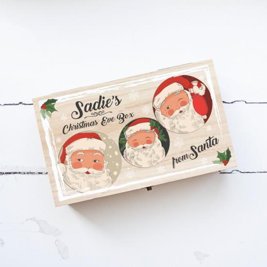 Personalised Rectangular Printed Box - Cheeky Santas Personalised and Bespoke