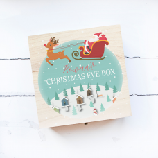 Personalised Square Printed Box Design - Sleigh Blue Personalised and Bespoke