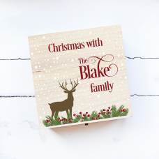 Personalised Square Printed Box Design  - Deer Personalised and Bespoke