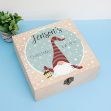 Personalised Square Printed Box Design - Gnome Blue Personalised and Bespoke