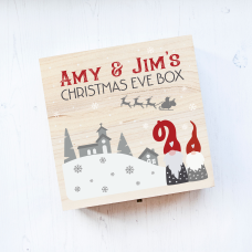 Personalised Square Printed Box Design - Gnome Couple Personalised and Bespoke