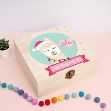 Personalised Square Printed Box Design - Llama Girl Personalised and Bespoke