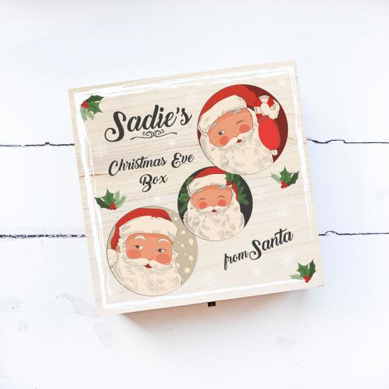 Personalised Square Printed Box Design - cCheeky Santas Personalised and Bespoke