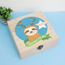 Personalised Square Printed Box Design - Sloth Boy Personalised and Bespoke