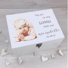 Personalised Printed Deluxe White Box - So Very Loved