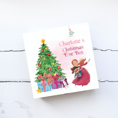 Deluxe White Painted Christmas Eve Box - Nutcracker Girl Personalised and Bespoke